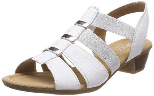 Gabor Shoes Damen Comfort Sport Riemchensandalen, (Weiss), 40.5 EU