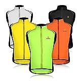 WOLFBIKE Uomo Magliette da Ciclismo Riflettente Impermeabile Senza Maniche Giacca da Ciclismo Bicicletta Ultraleggero e Gilet Antivento (Verde L)