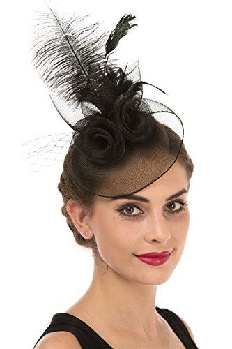 LUCKY Leaf Las mujeres chica tocados pelo Clip Horquilla sombrero boda  coctel. 7e8ef18b8b77