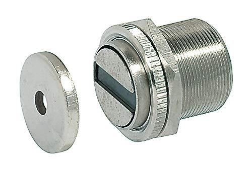 GedoTec® Magnet-Schnäpper Magnetverschluss für Metalltüren & Metallschränke   Haftkraft 10 kg   Möbel-Magnet extra stark inkl. Gegenplatte   1 Stück - Tür-Magnet für Zimmertüren - Spinte - Möbel-Türen
