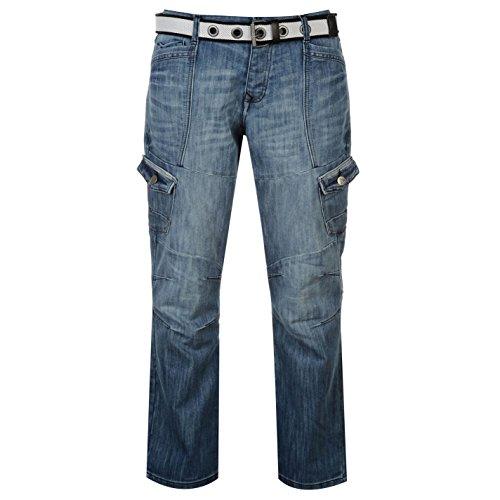 airwalk-herren-cargo-jeans-denim-hose-straight-fit-guertel-6-taschen-cargohose-blau-40w-r