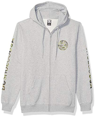 DC Herren Circle Star Zip Hood Fleece Kapuzenpulli, Grey Heather/Camo, XX-Large -