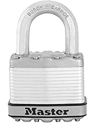 Master Lock M5EURD Cadenas Antirouille Haute Sécurité A Clé Excell en Acier Laminé 51 mm