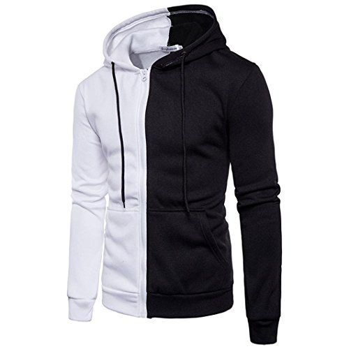 Herren Langarm Hoodie Sweatshirt Tops Jacke Männer Mantel Outwear (M, Weiß) (Spiel Sweatshirt Hoody)