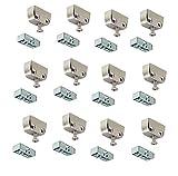 Gedotec Verbindungsbeschlag Trapez-Verbinder Korpusverbinder RV Stahl | mit Rastfunktion | verstärkte Metall Schrankverbinder | 24 Set