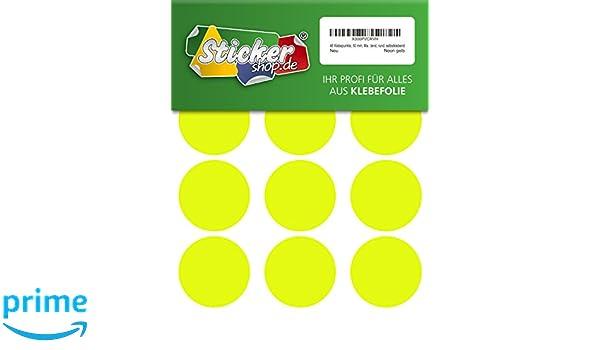leuchtend rund Folie Vinyl Punkt selbstklebend Markierungspunkte 288 Klebepunkte PVC 20 mm Neon gr/ün