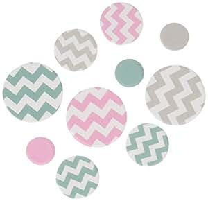 Ginger Ray bleu, rose et gris tableau partie confettis - Chevron divin