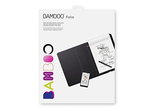 Wacom Bamboo Folio - Tableta gráfica (USB, 210 x 297 mm, Pluma, Inalámbrico, Micro-USB, Bamboo Paper, Inkspace Basic)
