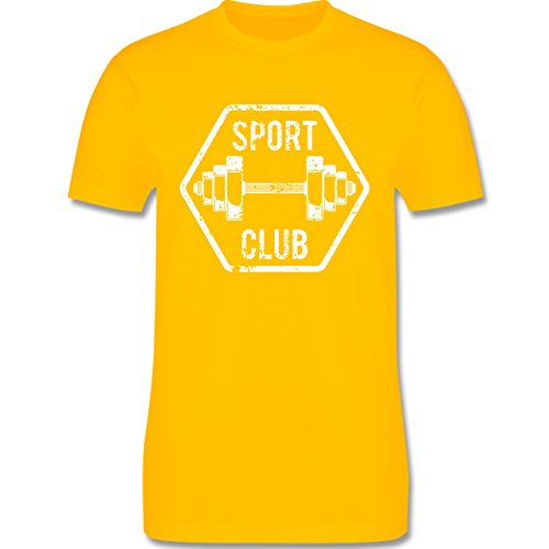 CrossFit & Workout - Sport Club - Herren Premium T-Shirt Gelb
