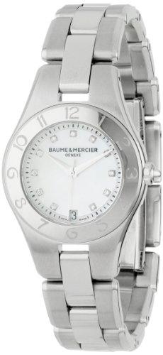 Baume & Mercier Linea Femme Diamant 27mm Saphire Quartz Montre 10011