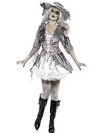 Smiffys, Damen Geisterschiff Piraten Schatz Kostüm, Kleid und Hut, Größe: L, 24362