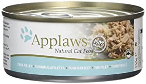 Applaws - Boîte pour chat - Filet de thon - 156 g - Lot de 24