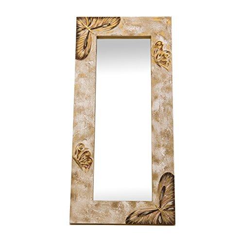 Lohoart L-1043-O1 - Espejo Sobre Lienzo Pintado Artesanal