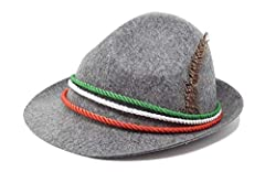 Idea Regalo - R&F srls Cappellino Cappello Tricolore Grigio Alpino Festa Birra liberazione unità Italia