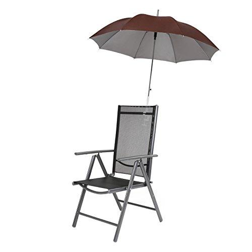 Miadomodo Sonnenschirm Campingstuhl Regenschirm Garten Terrasse Balkon Strand Shirm für Stuhl Ø 100cm - Farbwahl