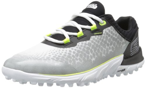 2014-skechers-go-bionic-lightweight-spikeless-mens-waterproof-golf-shoes-white-black-8uk