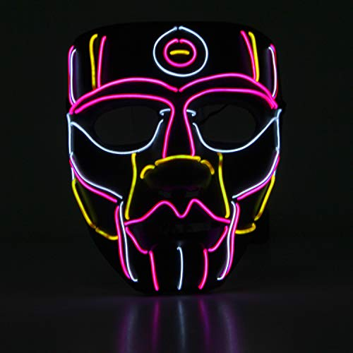 YOU LOOK UGLY TODAY Halloween LED Maske, Leuchtende -