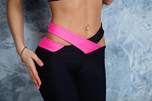 Faith Wings Donne Della Vita Trasversali Yoga Leggings Capri Palestra Di Fitness Pantaloni Jogger Sexy Tratto Rosa