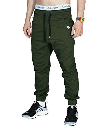 Betterstylz MasonBZ Chino-Jogger Pantalon Chino Èlégant Homme 20 couleurs (S-3XL) Olive