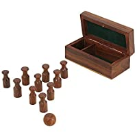 Miniature Bowling Legno Set; Handmade Regalo Di Natale; Gioco Da Tavolo Per Adulti