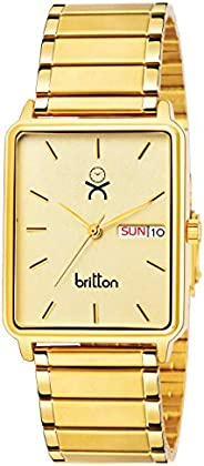 BRITTON Day and Date Display Analogue Gold Dial Men's Watch -BR-GR213-GLD