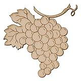 Holz Wein Rebe - Weintrauben 5-50cm Streudeko Basteln Deko Tischdeko, Größe:Höhe 10cm, Motiv:Weinrebe 2