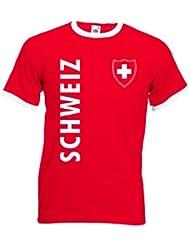 world-of-shirt Herren T-Shirt Schweiz/Suisse Wappen Retro Shirt