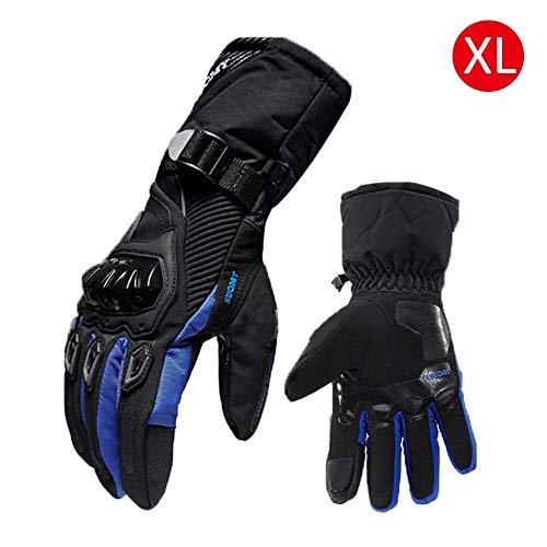 gouxia74534 - Guanti Invernali da Moto per Sci di Fondo, Impermeabili e Caldi, Quattro Stagioni, Anti-Caduta, Equitazione Blue2
