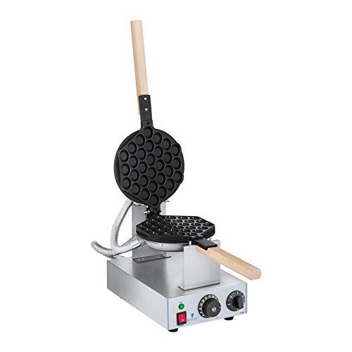 Royal Catering Bubble per cialde WAFFEL dispositivo cialde macchina per Waffle Maker rcwm 1400B (1.415W, Bubble modello, Acciaio Inox/Alluminio)