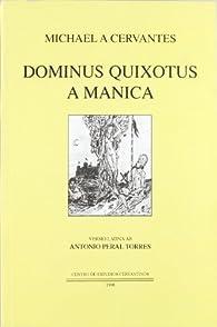 Dominus Quixotus a manica par Miguel De Cervantes