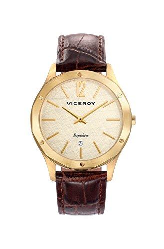 Viceroy Homme Analogique Quartz Montre avec Bracelet en Cuir 471127-95