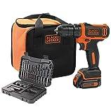 Black + Decker bdcdd12s32a-qw Akkuschrauber Lithium 10, 8V–32Zubehör + Aufbewahrungstasche, 10, 8V, orange, 2-teiliges Set