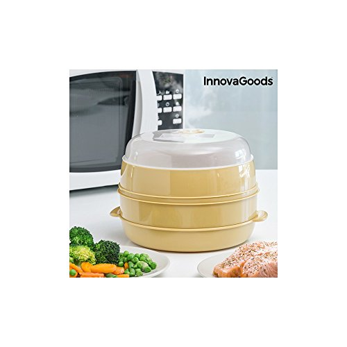 innovagoods Dampfgarer-Mikrowelle, PVC, Beige, 20 x 20 x 17 cm