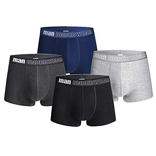 Acexy Herren Boxershorts, 4er Pack Unterwäsche/Boxershorts Basic Trunk Unterhosen Männer (4 Pack New, L) -