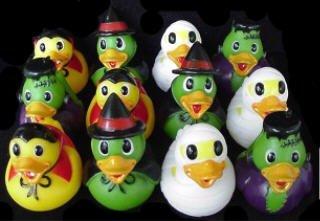 Dozen Assorted Halloween Costume Mini Rubber Ducks Ducky - 2.5 by Rhode Island Novelty (Rubber Ducky Halloween-kostüm)