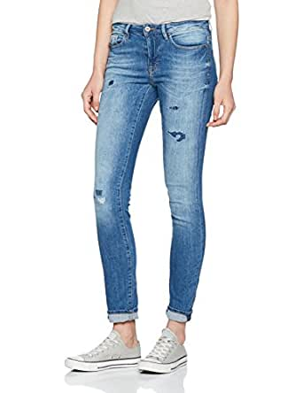 edc by ESPRIT Damen Jeanshose 047CC1B019, Blau (Blue Medium Wash 902), W26/L32