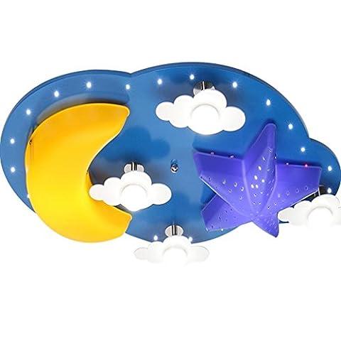 GRFH Segmented télécommande de dessin animé Enfants Lumière Garçons Filles Enfants Light Room Star Moon protection oculaire Princess Chambre plafond