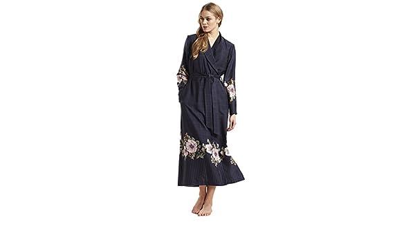 Feraud 3181361-11573 Women s Couture Indigo Blue Check Dressing Gown  Loungewear Bath Robe Robe  Feraud  Amazon.co.uk  Clothing a2e912dbb