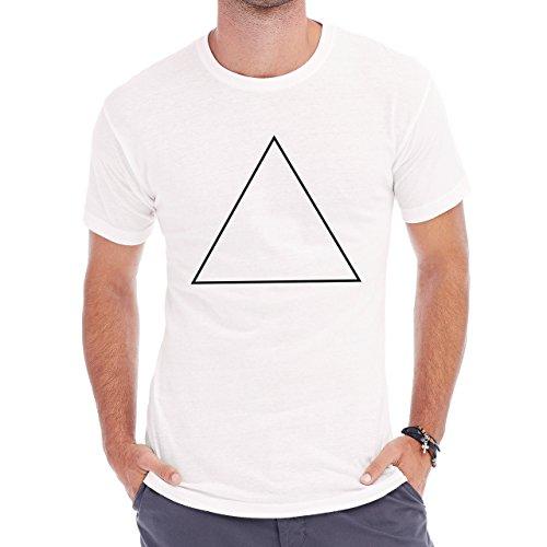 Stroke Triangle Illuminati Swag Hipster Edition Herren T-Shirt Weiß