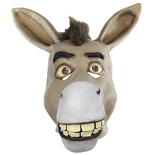 Halloween Esel Maske Lustige Heikles Tiere Latex Kopfbedeckungen Für Kostüm Party (Lustige Tier Kostüm Streiche)
