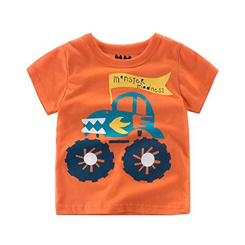 JUTOO Sommer-Säuglingsbaby scherzt Jungen-Mädchen-T-Shirts Karikatur-Druck übersteigt Outfits-Kleidung ()