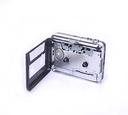 Portable Super USB Cassette Capture, Cassette to MP3 Converter, Cassette Tape-to-MP3 to PC Player with Headphones, Auto-Reverse Function, with Software, Play as Walkman