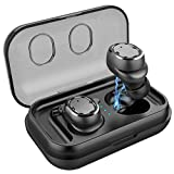 Qooker Bluetooth 5,0 Kopfhörer in Ear mini Sport Kabellos True Wireless TWS 500 mAh für 25-stündige Spiel IPX5 Bluetooth Earbuds Headsets Kabellose in Ear Kopfhöre