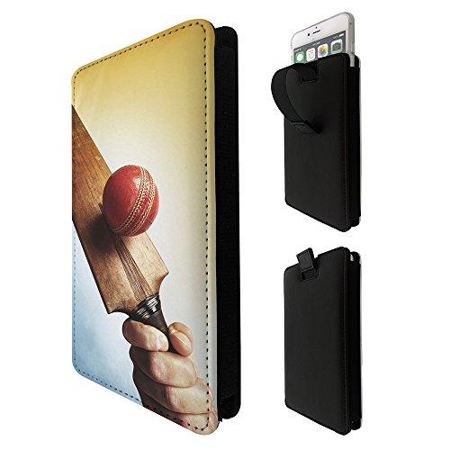 003537 - Cricket Player Ball Bat Sport SONY z1 z2 z3 z5 m2 m4 x xa xa1,HTC m8 m9 m10 530 620 628 u play u11 A9 Hülle Tasche Etui Pouch Cover- Mit Rausziehlasche (M9 Bat)