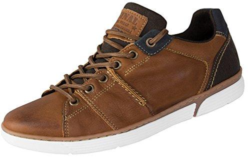 Beppi scarpe da ginnastica in pelle da uomo vera pelle e fatti a mano | marrone chiaro | dimensioni: 44