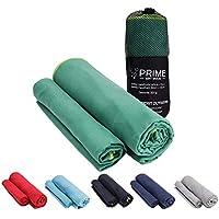 PRIME ART WOOD® Microfaser Handtücher - Schnelltrocknend, Ultraleicht, Kompakt - Microfaser Handtuch - das perfekte Sporthandtuch, Reisehandtuch und Strandhandtuch - Viele Größe und Farben