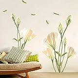Alicemall Wall Sticker Adesivi da Parete Adesivo Murale Fiori Decorazione Fai da Te in PVC (Stile 6) 90cm x 60cm