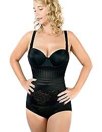 RIEMTEX Shapeware Damen Formbody Figurformender Body Shaper Bauchweg Unterwäsche Miederbody Schwarz Oder Beige