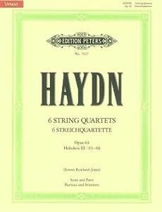 Partition classique EDITION PETERS HAYDN JOSEPH - THE 6 STRING QUARTETS OP.64 (FULL SCORE & PARTS) - STRING QUARTETS Ensemble à cordes