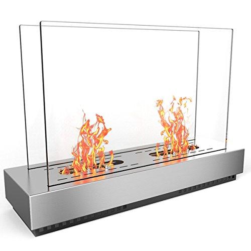 Regal Flame Ethanol-Kamin aus Edelstahl, belüftet, freistehend, kann ALS Innen- und Außenbereich, Gasscheit-Einsätze, belüftungsfrei, elektrisch, Outdoor-Kamin und Feuerstellen verwendet Werden.